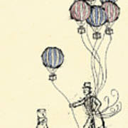 Ballons For Sale Poster by William Addison