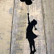 Ballons Girl Poster