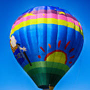 Balloon Over Wine Country Poster