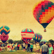 Balloon Rally Poster by Kathy Jennings