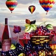 Balloon Ride At Dawn Poster