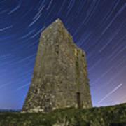 Ballybrit Castle Star Trails Poster