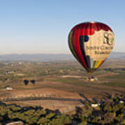 Baloon Riding  Over Temecula Ca Poster
