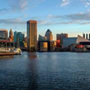 Baltimore Inner Harbor Sunrise Poster