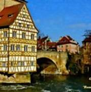 Bamberg Townhall - Germany H A Poster