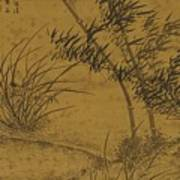 Bamboos And Orchids In The Wind Poster
