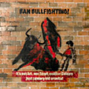 Ban Bullfighting Poster