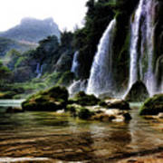 Ban Gioc Vietnam's Most Beautiful Waterfall  Poster