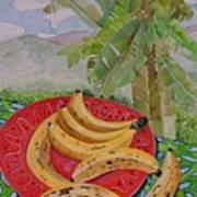 Bananas On A Plate Poster