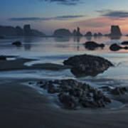 Bandon Beach Sunset Poster