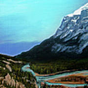 Banff Alberta Rocky Mountain View Poster