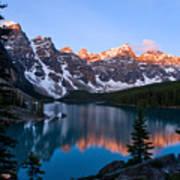 Banff - Moraine Lake Sunrise Poster by Terry Elniski