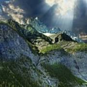 Mount Cory, Banff Poster