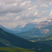 Banff National Park - View Through The Valley Poster