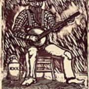 Banjo Hero Poster by Mathew Luebbert
