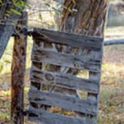 Bannack Gate At Sunrise Poster