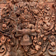 Banteay Srei Bas Relief Carvings - Cambodia Poster