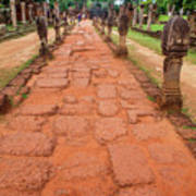 Banteay Srei Red Sandstone Road - Cambodia Poster