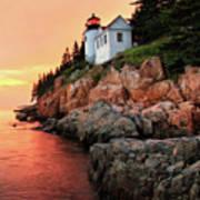 Bar Harbor Light House Poster