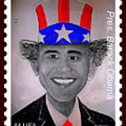 Barack Obama Postage Stamp Poster by Teodoro De La Santa