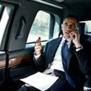 Barack Obama Talks To A Member Poster