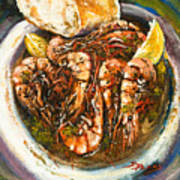 Barbequed Shrimp Poster by Dianne Parks