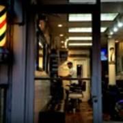 Barber Shop At Closing Time Poster