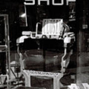 Barber Shop Window Poster