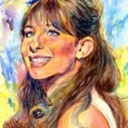 Barbra Streisand Young Portrait Poster