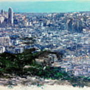 Barcelona Desde El Tibidabo Poster