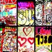 Barcelona Graffiti Wall  Poster