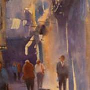 Barcelona Shadows Poster