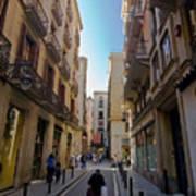 Barcelona Street Scene Poster