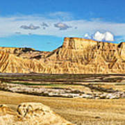 Bardenas Desert Panorama 3 Poster