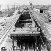 Barge Construction Poster