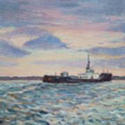 Barge On Port Phillip Bay Poster