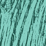 Bark Texture Turquoise Poster