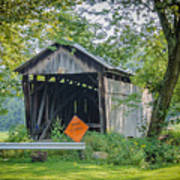 Barkhurst Covered Bridge  Poster