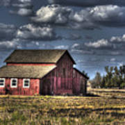 Barn After Storm Poster