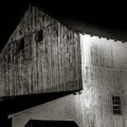 Barn At Night Poster
