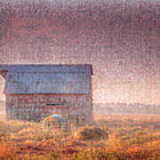 Barn In Early Light  Poster