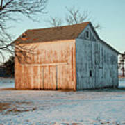 Barn Late Afternoon Poster