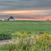 Barn On The Horizon  Poster