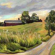 Barn On The Ridge In West Newbury Vermont Poster
