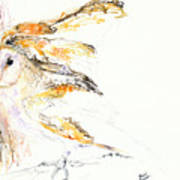 Barn Owl And Tree Poster