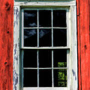 Barn Window Closeup At Old World Wisconsin Poster