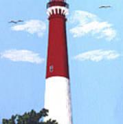 Barnegat Lighthouse Painting Poster