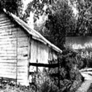 Barns In Black And White Poster