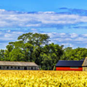 Barns In The Distance Poster