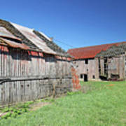 Barns Of Old Poster